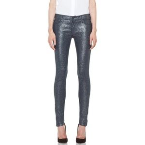 MOTHER Jeans Looker in Sparkle & Purr 27 MSRP $228
